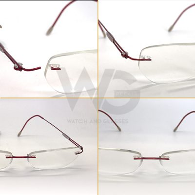 rimless glasses repair