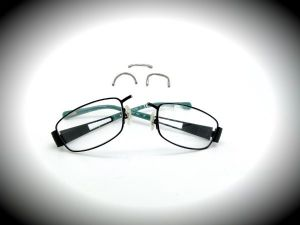 Broken Metal Frame Glasses